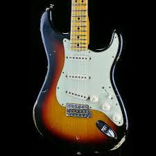 Fender 1969 Heavy Relic Stratocaster 3 Tone Sunburst C Carve