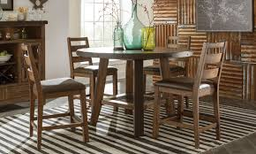 Decorative Metal Banding For Furniture by Taos Spruce U0026 Steel Counter Height Dining Set The Dump
