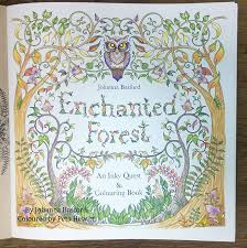 Enchanting Pictures Of Enchanted Forest My First Finished Pages