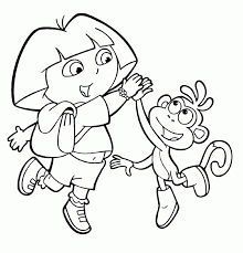 Free Printable Dora The Explorer Coloring Pages For Kids Intended