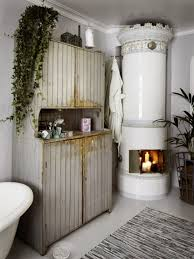 Shabby Chic Bathroom Ideas by Shabby Chic Bathroom Design With A Hearth And A Sideboard Digsdigs