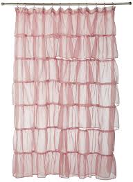 Pink Ruffled Window Curtains by Amazon Com Lorraine Home Fashions Gypsy Shower Curtain 70 Inch
