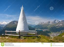 100 Muottas Muragl With Sculpture Called The Drop Switzerland Editorial
