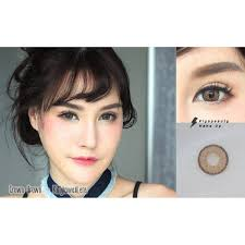 Buy Kitty Kawaii Monthly Contact Lens 1 Pair Crown Brown Online