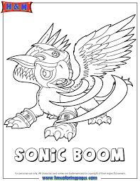 Skylanders Giants Air Sonic Boom Coloring Page