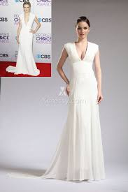 taylor swift ivory deep v neck semi formal celebrity dress