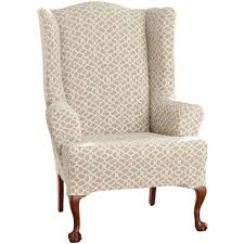 Furniture: Excellent Wingback Chair Covers For Elegant Interior ... Refreshing Easy Diy Striped Chair Slipcover That Exude Luxury Amazoncom Harmony Slipcovers Rose Stripe Wingback Fits S Wingback Grey Themaspring Striped Wingback Chair Dentprofessionalinfo Stretch Pinstripe One Piece Wing Tcushion Slipcovers Uk Avalonmasterpro White Tikami Fniture Excellent Covers For Elegant Interior Back Cover Denim Double Diamond Sure Fit Wingchair