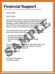Financial support letter sample useful portrait how write a – meowings