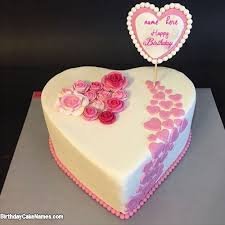 Beautiful White Chocolate Cake For Lover Birthday Wish With Name with Name