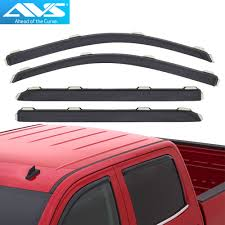 194536 AVS In-Channel Vent Visor Rain Guards For Silverado / Sierra ... How To Install Rain Guards Inchannel And Stickon Weathertech Side Window Deflectors In Stock Avs Color Match Low Profile Oem Style Visors Cc Car Worx Visor For 20151617 Toyota Camry Wv Amazoncom Black Horse 140660 Smoke Guard 4 Pack Automotive Lund Intertional Products Ventvisors And 2014 Jeep Patriot Cars Sun Wind Deflector For Subaru Outback Tapeon Outsidemount Shades Front Door Best Of Where To Find Vent 2015 2016 2017 Set Of 4pcs 1418 Silverado Sierra Crew Cab Shade