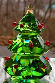 SWAROVSKI Crystal Green Christmas Tree Figurine 5223606 New In Box 1 Of 4