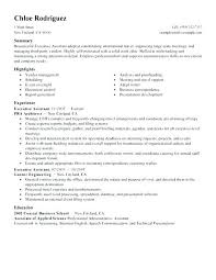 Best Resume Profile Executive Assistant Administrative Sample Marriage Template