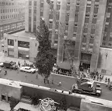 Rockefeller Plaza Christmas Tree by Vintage Images Of Rockefeller Center Christmas Tree In New York