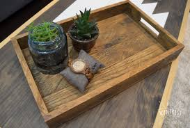 Reclaimed Wood Farmhouse Tray For Anything DIY Project