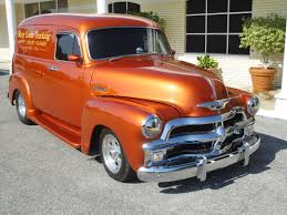 100 Chevrolet Panel Truck 1954 CHEVROLET PANEL TRUCK 3100 Retro Custom Hot Rod Rods H