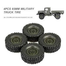 100 14 Truck Tires Amazoncom Goolsky 4PCS 65mm Military Tire For 116 WPL B