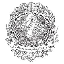 Coloring Adult Happy Thanksgiving Turkey Mandala By Frauleinfreya
