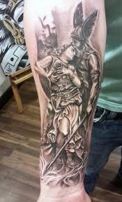 Tribal Battle Tattoos Forearm