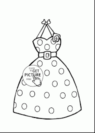 Incredible Girl In Polka Dot Dress Coloring Pages With And Up
