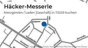 häcker messerle bahnhofstraße in kuchen metzgereien laden