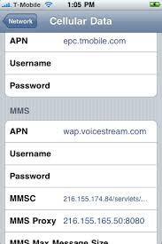 T Mobile iPhone MMS Settings For iOS 4