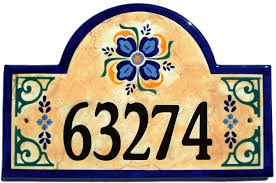 classy plaques store old spanish house number plaque 209 00