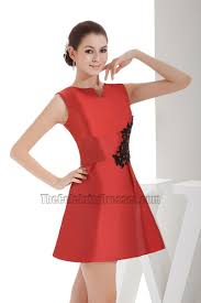 chic short mini red a line party dress homecoming dresses