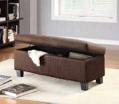 Homelegance Clair Lift Top Storage Bench Ottoman Chocolate