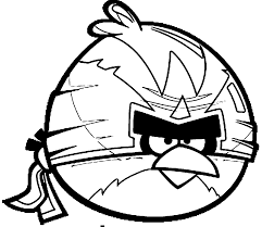 Angry Birds Coloring Pages Big Bird Ninja