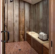 Rustic Shower Bathroom Reclaimed Tin Roof V Chanel Material Lines The