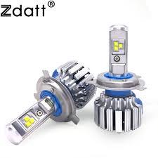 check discount zdatt 2pcs bright h4 led bulb canbus 80w