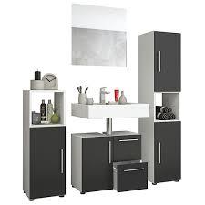 badschrank badmöbel spiegelschrank flandu variante spiegelschrank schwarz vcm