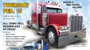 Truck And Trailer Auction | February 15, 2018 | Purple Wave - YouTube Auto Parts Accsories Truck Steering System Gear Semitruck Loses Load Of Animal Parts Causes Traffic Delays Jackson Equipment Co Alburque Heavy Duty Bumpers Cluding Freightliner Volvo Peterbilt Kenworth Kw Semi Best Photo Image Atomimageco Vintage Radio Shack Rc Remote Control Mercedes Or Peterbilt Extended Grill Tp1001 And Commercial Western Star Aranda Trp Catalogue Trailer Gaspsie Diesel Kenworth W900 Amistartrucks Truckparts Chrome Accsories