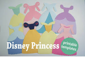 Choose from 6 free templates and instantly to print your own Disney Princess dress paper cutout Featuring Cinderella Snow White Elsa and more