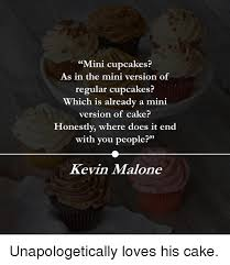 Kevin Malone The Office And Cake Mini Cupcakes As In