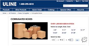 Uline Make It Wasy To Find The Right Sized Boxes And Other Shipping Supplies
