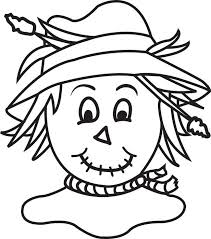 FREE Printable Scarecrow Coloring Page For Kids