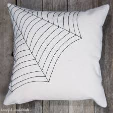Love This Simple Pillow For Halloween Celebrate October With Easy DIY Farmhouse Style Spiderweb