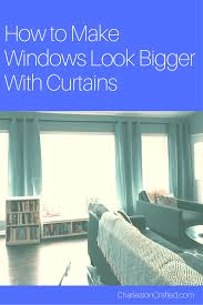 144 To 240 Inch Adjustable Curtain Rod by How To Make Windows Look Bigger With Curtains U2022 Charleston Crafted