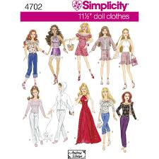 Simplicity Doll Clothes Sewing Pattern 4702 Hobbycraft