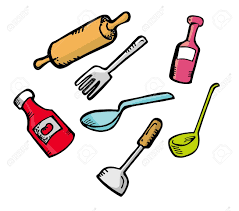 dessin ustensile de cuisine cooking ware in doodle style royalty free cliparts vectors and