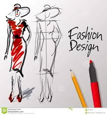 Worldartsme Images Sketch Fashion Design Clipa
