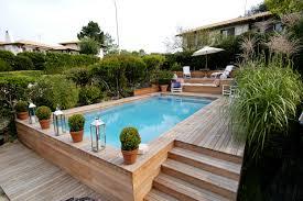 piscine bois semi enterrée inspirant piscine semi enterrã e le
