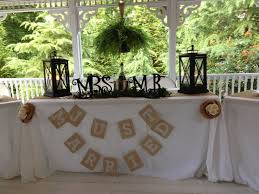 Bride And Grooms Table For Rustic Wedding