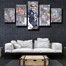 arxyd leinwand zum malen 5 stück leinwand wandkunst für wohnzimmer home decoration artwork kreatives geschenk chicago bears cutler 5
