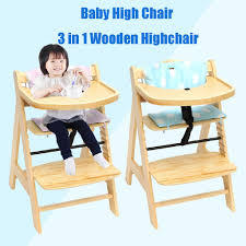3 In 1 Baby Wooden High Chair Convertible Table Seat Feeding ... Wooden High Chair For Babies And Toddlers With Harness Removable Tray Adjustable Legs High Chairs Hedstrom Vintage Convertible Pads Skip Hop Tuo 2in1 Koodi Duo Highchair Rubber Tree Wood 6 Months 3 Years Plan Asunflower In 1 Modern Solution Cushion Feeding Toddlerinfantbaby Childrens Ding Fashion Recall Chairs Room Lovable Jenny Lind For Abiie Beyond With The Perfect Baby Your Or As A Months