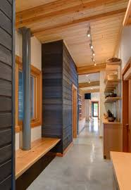 Beautiful Design For Rustic Hall With Natural Wood
