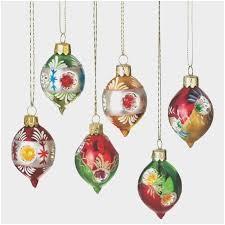 Old Fashioned Large German Christmas Tree Lights Elegant Set Of 6 Retro Style Reflector Glass Drop