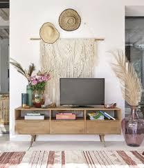 wanddeko geflochtene feder aus kokosfaser 46x127 maisons du monde