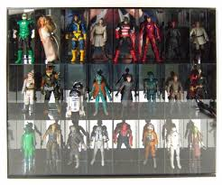 Wall Mountable 24 Action Figure Mirrored Acrylic Case